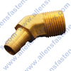 BRASS 45* HOSE BARB CONNECTOR.