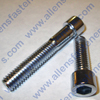 5/8-11 CHROME SOCKET HEAD ALLEN BOLTS,(POLISHED CHROME),GRADE 8, BOLTS ARE PARTLEY THREADED UNLESS NOTED AND HEX KEY SIZE IS 1/2.