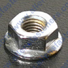 CHROME SERRATED FLANGE NUTS,FINE THREAD,CHROME PLATED,WRENCHING/HEX SIZE,FLANGE DIA + OR - .005 IS LISTED.