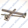 4/40 STAINLESS STEEL OVAL PHILLIPS MACHINE SCREWS,(18-8 STAINLESS),SCREWS ARE FULLY THREADED.